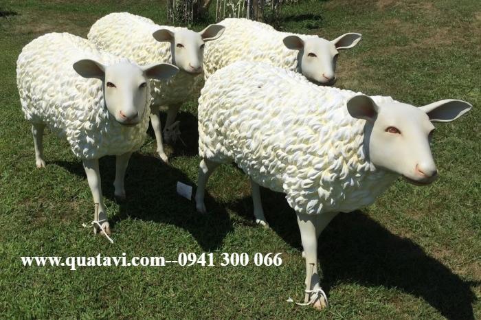 Fiberglass sheep model